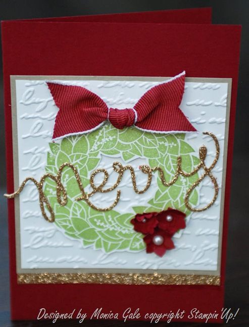 Stampin'Up! Wonderful Wreath and Expression Thinlits_