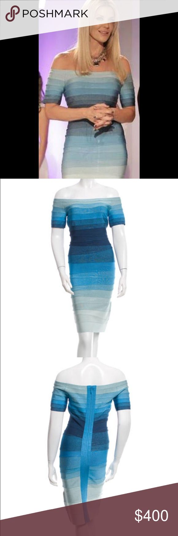 Authentic Herve Léger! The coveted Bridget ombré Herve Léger! So different you're sure to catch everyone's eye in this! I wore it once as you see in the first photo for a shoot. Herve Leger Dresses