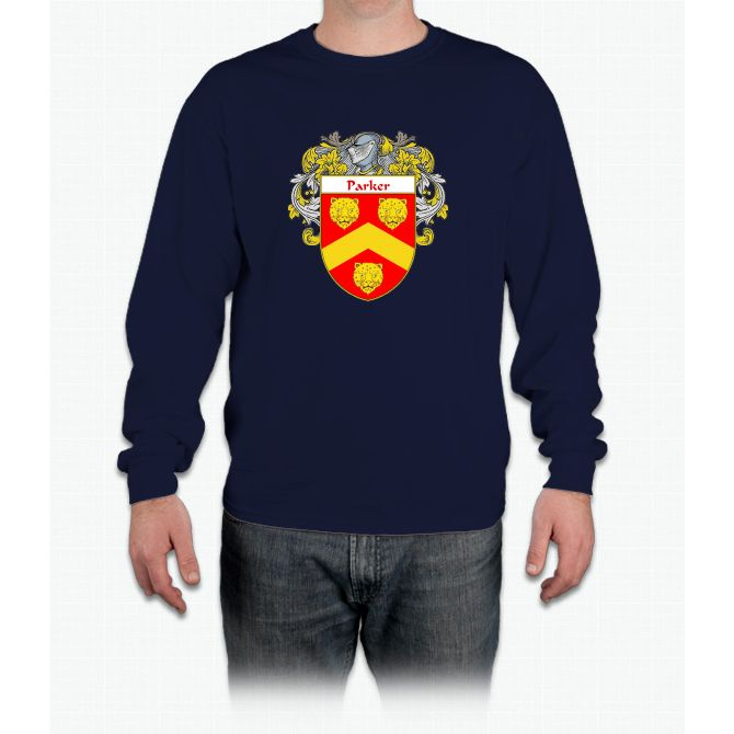 Parker Coat of Arms / Parker Family Crest Long Sleeve T-Shirt