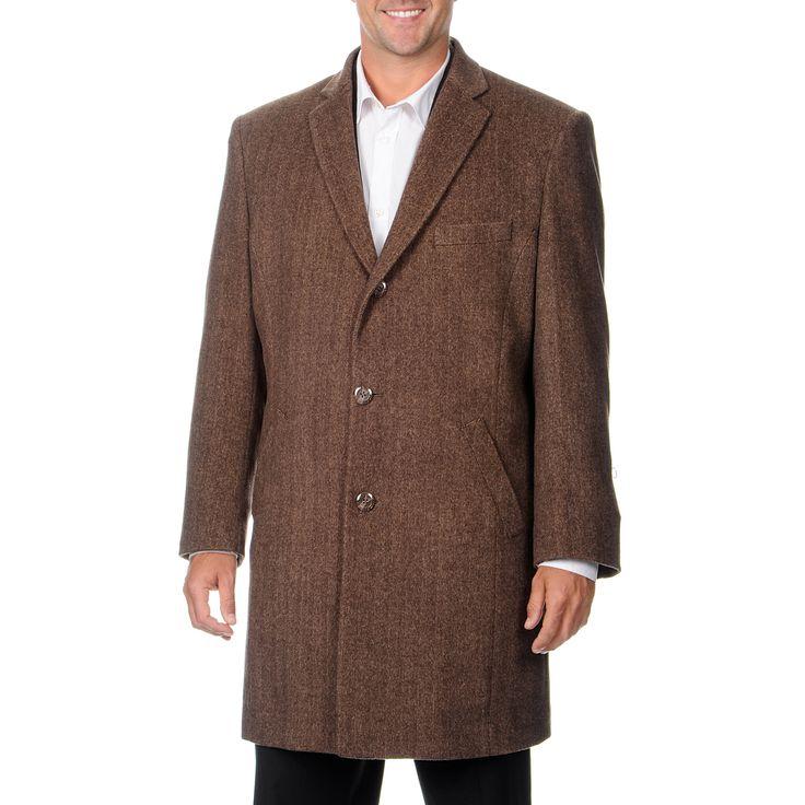 Pronto Moda Men's 'Ram' Light Blend Top Coat
