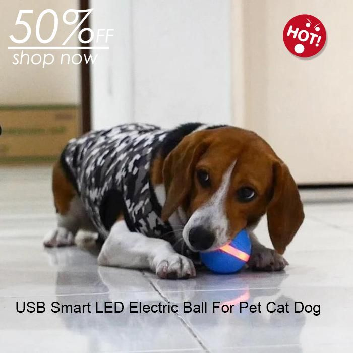 Usb Smart Electric Ball Led Rolling Flash Ball For Pet Cat Dog Toy