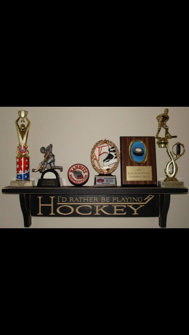 Trophy Shelf,Hockey Shelf,Hockey Trophy Shelf,NHL,Hockey Signs,Hockey…