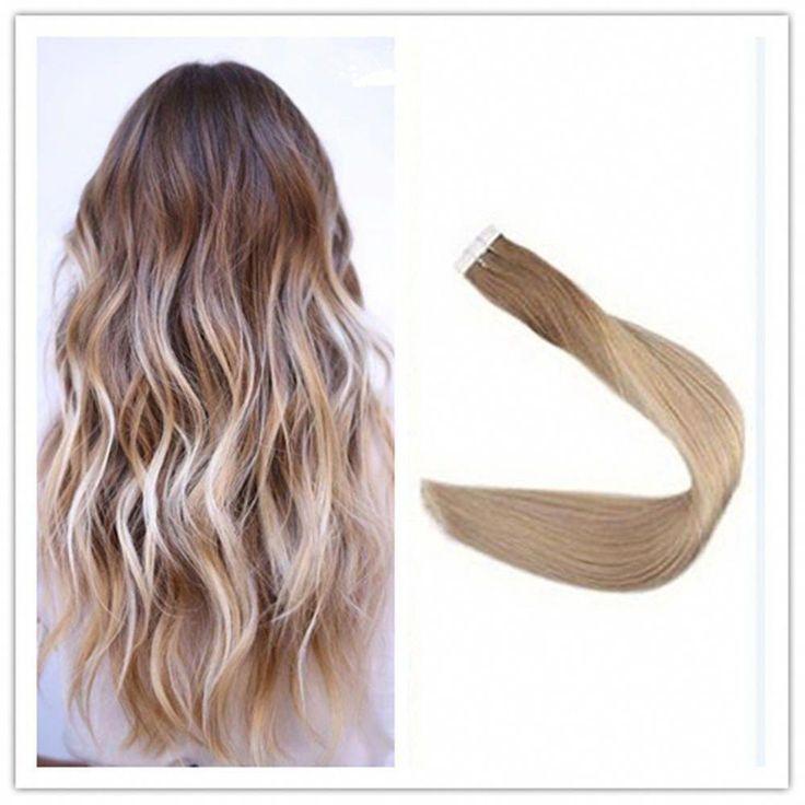 Full Shine 16 5pcs Skin Weft Tape Hair Extensions …
