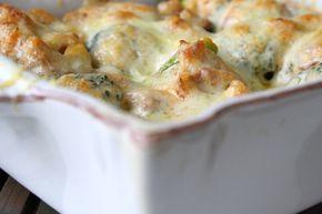 """Denna gratängen passar LCHF, menvill mangöra den mer """"matig"""" så är det gott att vända i pasta i och öka mängden med krämig sås. Till 2- 3 personer 3färska """"buketter"""" med broccoli 1 gul lök 2 pkt bacon 5 dl creme fraiche 1 msk tomatpure Sambal oelek salt och peppar … Läs mer"""