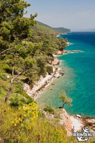Scenic view of Gokova Bay Turkey. Gulf of Gökova (Turkish: Gökova Körfezi) or Gulf of Kerme (Turkish: Kerme Körfezi, Greek: Κεραμεικός κόλπος, Latin: Ceramicus Sinus, English: Ceramic Gulf or Gulf of Cos), is a long (100 km), narrow gulf of the Aegean Sea between Bodrum Peninsula and Datça Peninsula in south-west Turkey. Administratively, Gulf of Gökova coastline includes portions of the districts of, clockwise, Bodrum, Milas, Muğla, Ula, Marmaris and Datça. The Greek island of Kos lies…