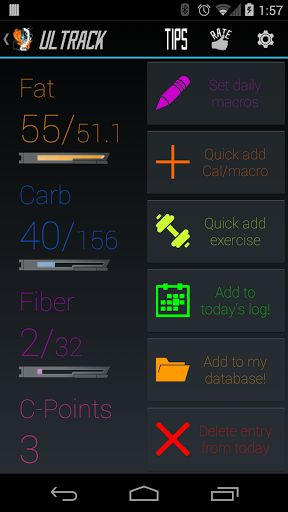 """►Track your Calories and macros quickly, consistently, and efficiently.<br>►Copy and paste nutrition facts you find on the internet and quickly create food database entries!<br>►Organize and store data about food and ingredients that when ingested, can be tracked and counted effortlessly.<br>►Create dishes out of your ingredients to log all caloric and macro contents easily! Cook to your heart's content and also track exactly what you throw in your dishes!<br>►C-Points or """"Consistency…"""