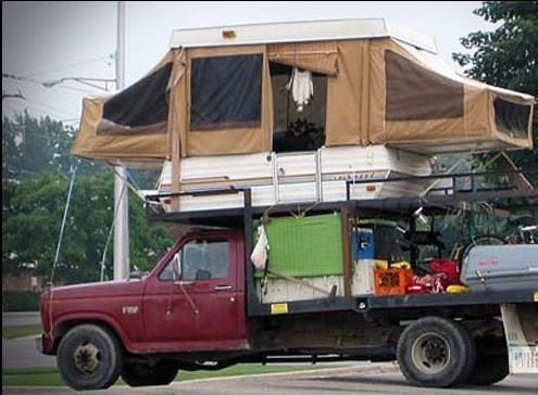 Funny Rv Pop Up Truck Camper To Deter Bears And Sasquatch