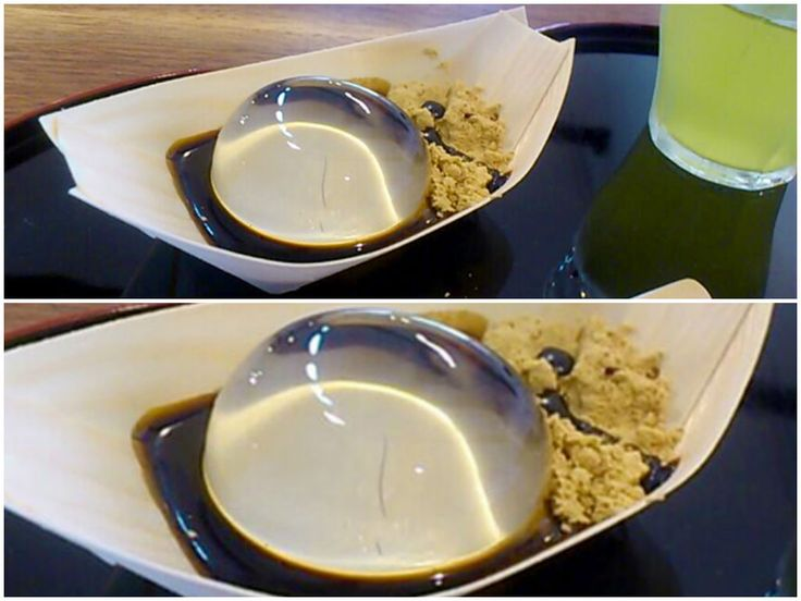 This is not a drop of water, it's a cake! Mizu Shingen Mochi is a new breed of Japanese rice cake. ???