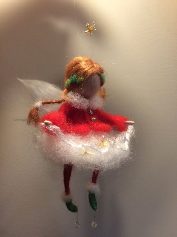 Hey, I found this really awesome Etsy listing at https://www.etsy.com/listing/254931305/needle-felted-christmas-fairy-ornament