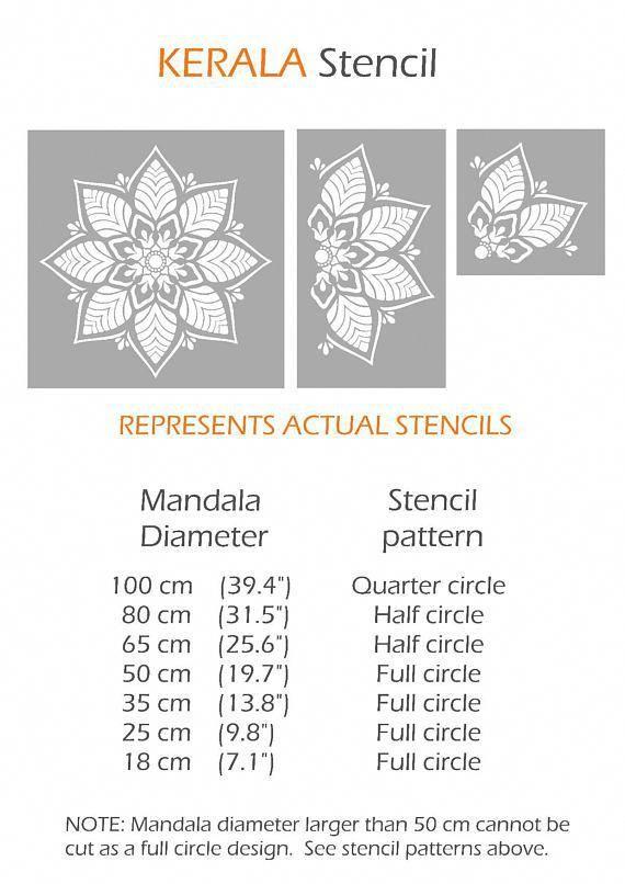 Kerala Stencil Indian Mandala Wall Furniture Floor Craft Stencil For Painting Kera01 Mandala Stencils Stencils Indian Mandala