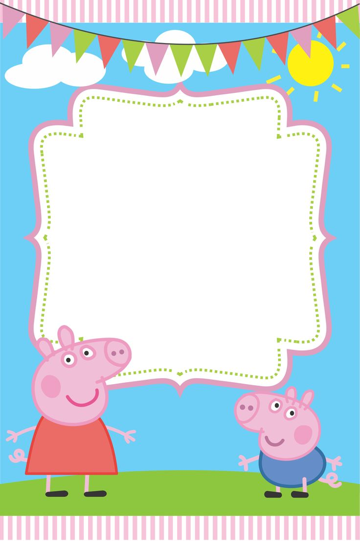 Blank Peppa Pig Invitation