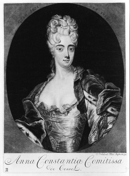 Cosel, Anna Konstanze Gräfin von, geb. Brockdorff by Pieter Schenk