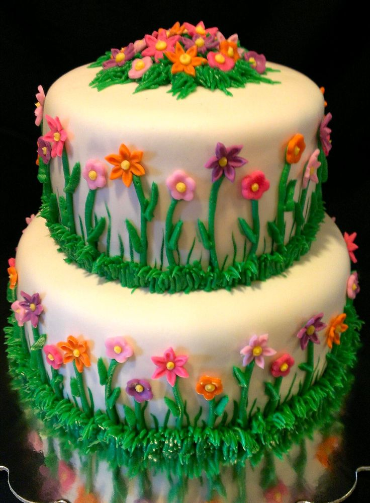 Garden Party Cake Images : Flower Garden Birthday Cake Birthday Cakes Pinterest ...
