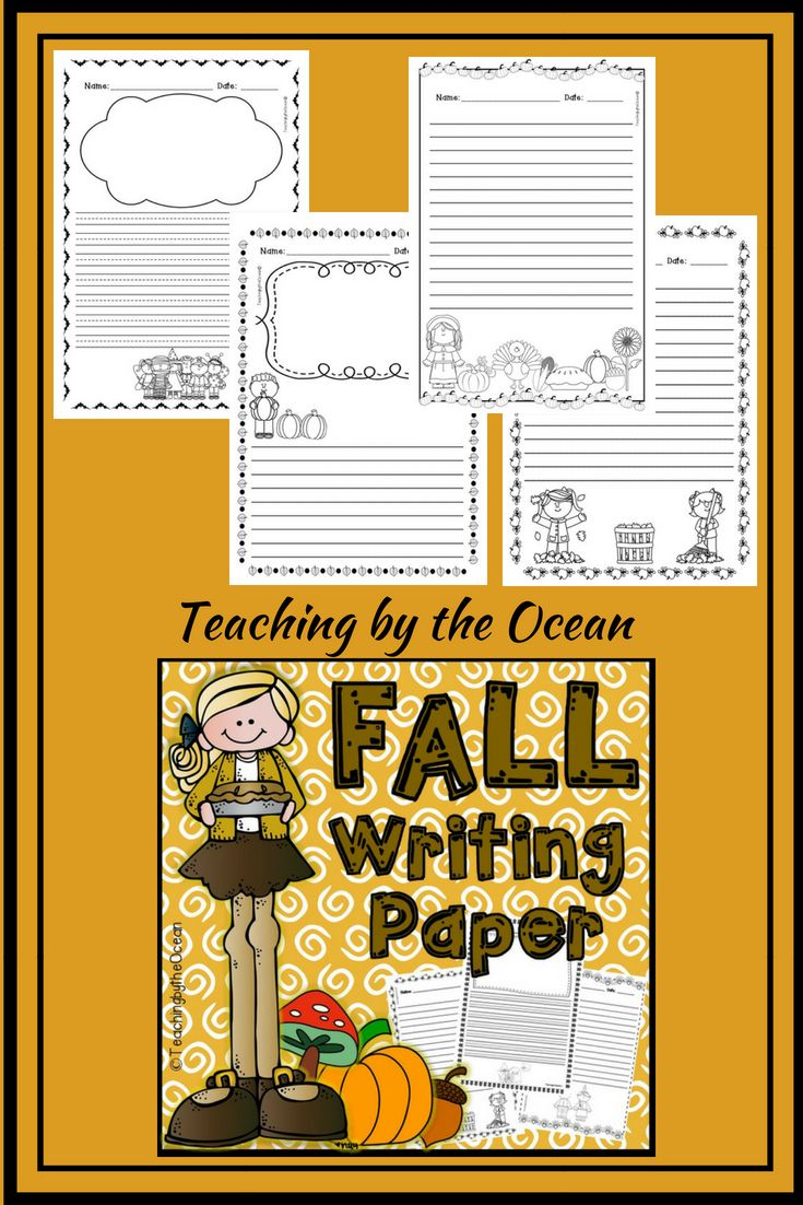 autumn writing paper A class full of scarecrows: have each student lie down on a piece of butcher or bulletin board paper with their arms appropriately placed for a scarecrow (straight out, straight down, or straight out and bent down at the elbows.