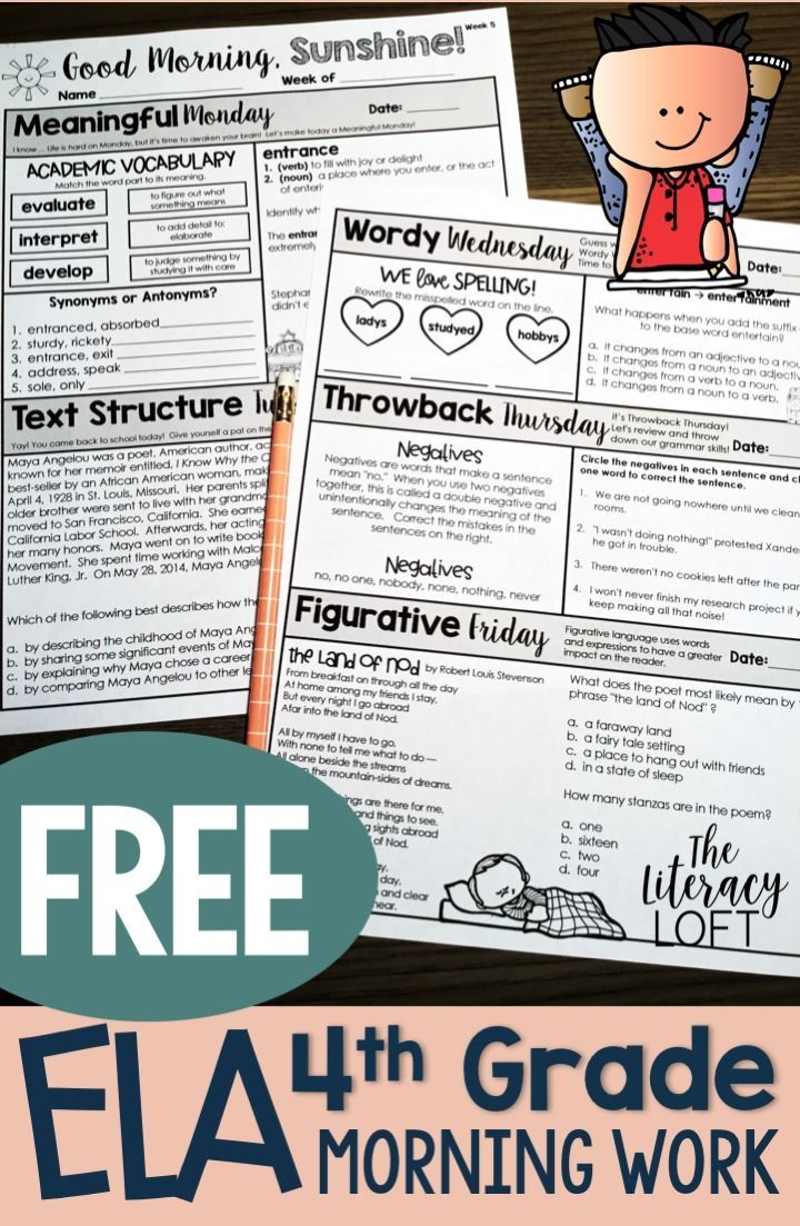 Perk Up Your Routine While Also Covering A Lot Of Skills In A Little Amount Of Time This Morning Work Is The Si Free Ela Morning Work Morning Work Activities [ 1103 x 720 Pixel ]