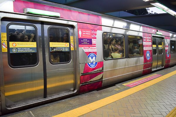 Sorry men. The Rio Metro have carriers for Women Only.