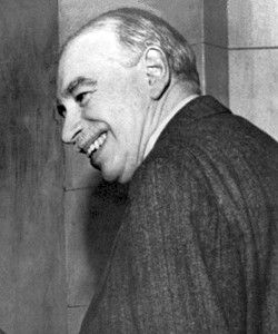 Keynes, John Maynard (1883-1946). The British economist who was principal critic of established economic theory in the inter-war period, seeking a synthesis between socialism and capitalism by insisting that full employment could be attained through public investment. He was financial adviser to the government during the Second World War. He was also a member of the literary circle known as the 'Bloombury Group' and a patron of the theatre and arts.