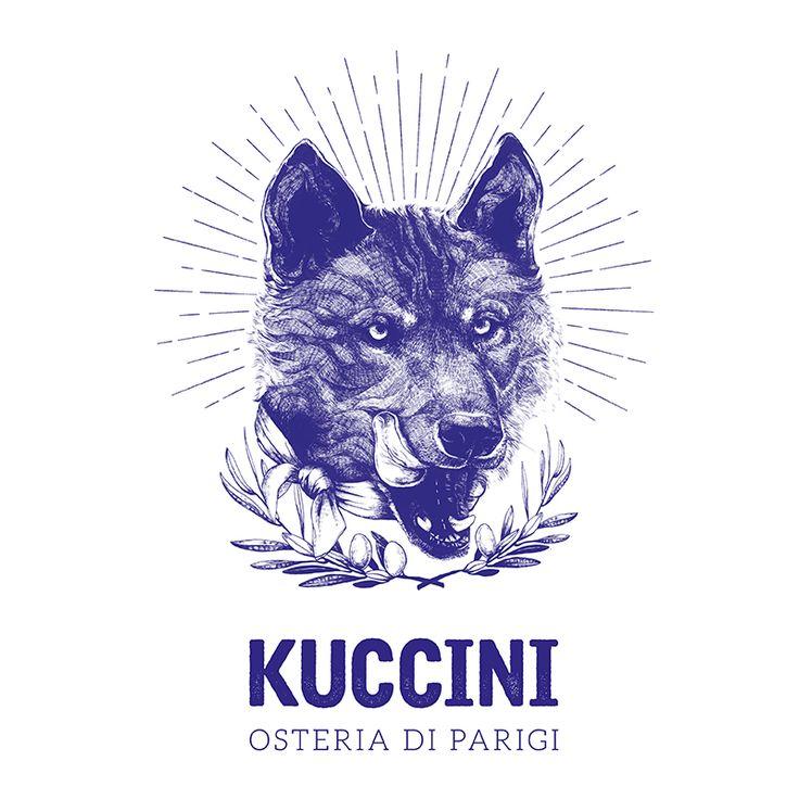 Kuccini / Restaurant italien à Paris / Illustration Clémence Thienpont
