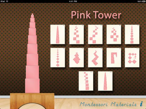 A Montessori Sensorial Exercise - Pink Tower Screenshot