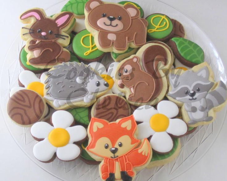 Woodland Creature Baby Shower Cookies | Cookie Connection