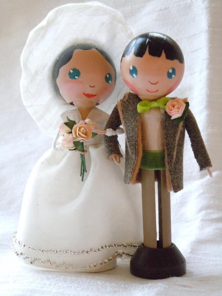 56 best wedding clothespin dolls images on pinterest