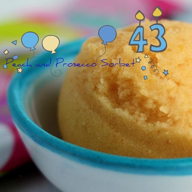 Genevieve Cooks: Peach and Prosecco Sorbet