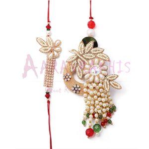Designer Pearl, Moti Bhaiya Bhabhi Rakhi Combo