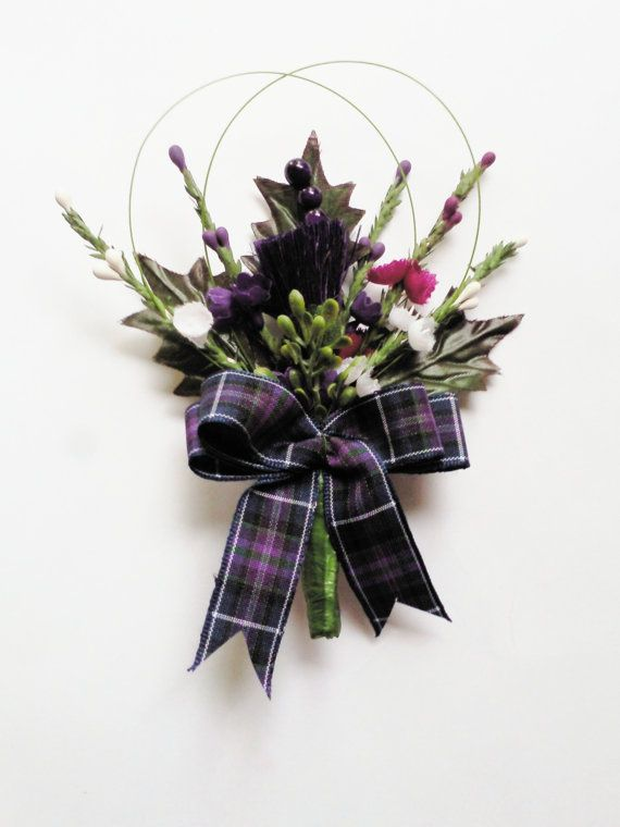 Stunning  Scottish Thistle Buttonhole for the by ClovaThistles, £5.50
