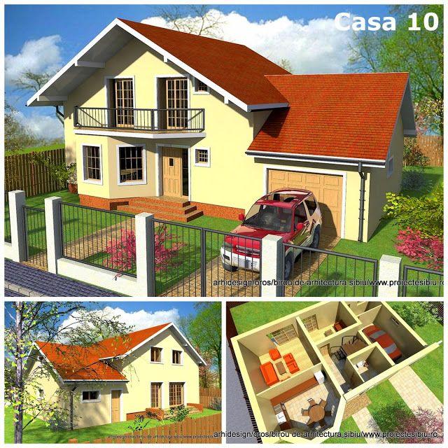 Case Arhidesign: Casa parter mansarda si garaj - casa 10