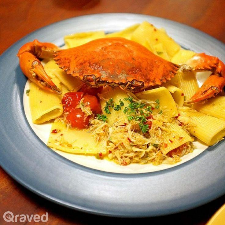 Crab Pasta at Convivium Café Deli