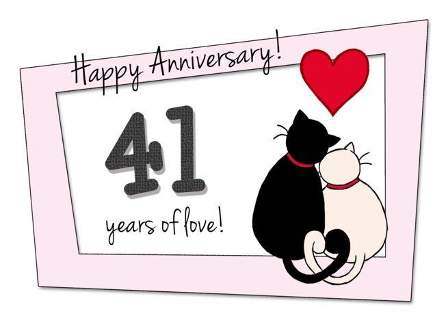 41st Wedding Anniversary Gift: Happy 41st Wedding Anniversary