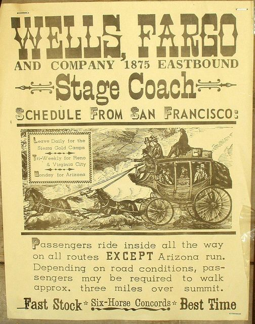 Wells Fargo Stage Coach 1875