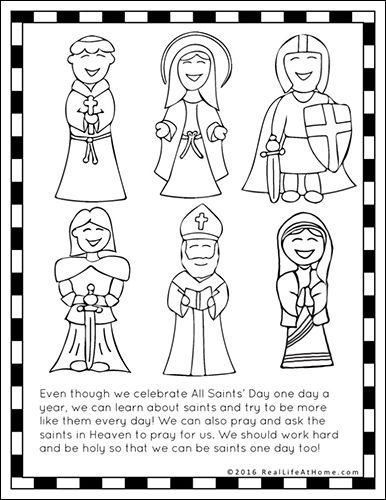 Saints Printables and Worksheet