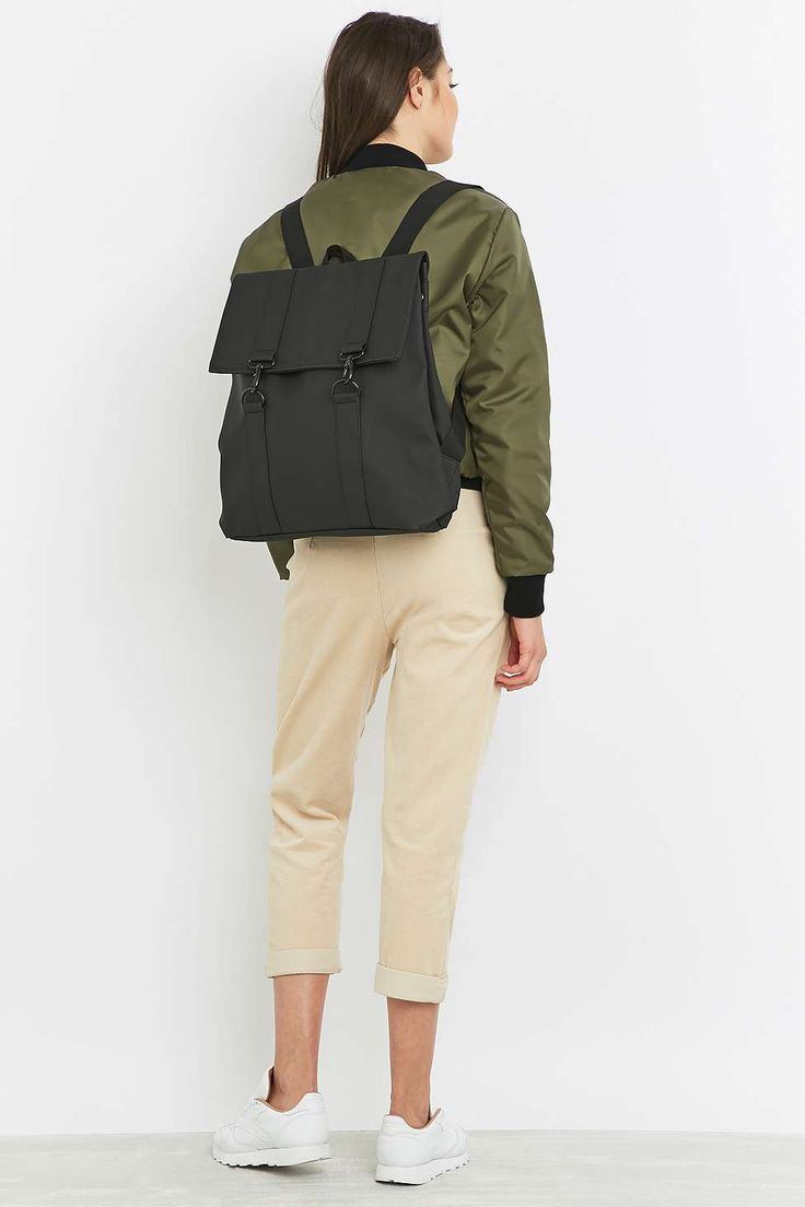 Rains Messenger Black Backpack