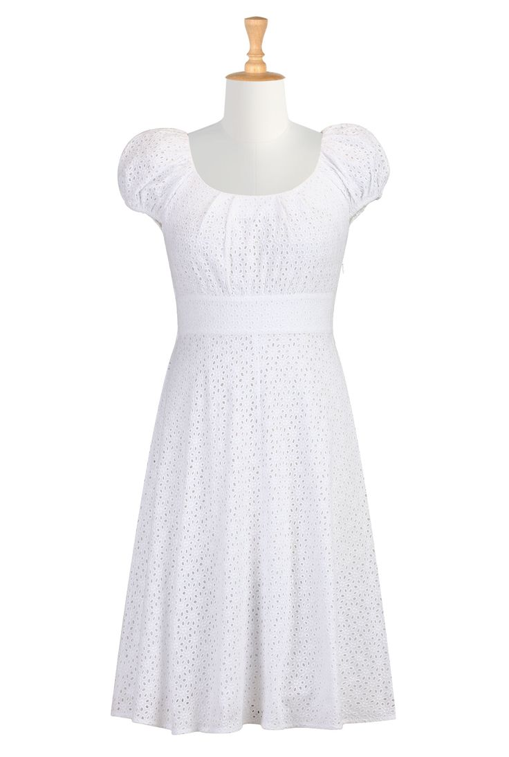 Who doesn't love eyelet lace in the summer? Plus the cap sleeves and waistline are so Jane Austen.