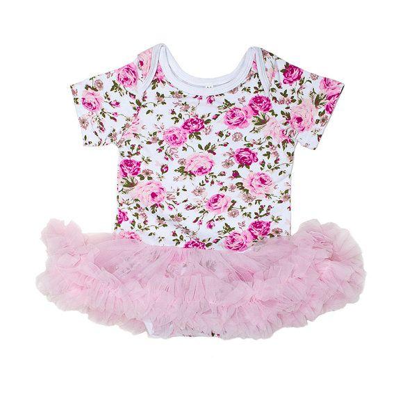Floral Tutu Bodysuit: K1021 by KorkeKids on Etsy