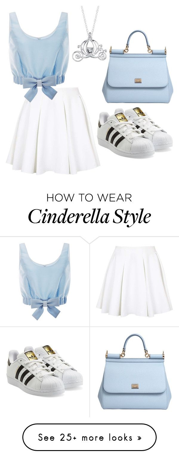 """DISNEY PRINSES OOTD ~ cindrella"" by rosalieve on Polyvore featuring Disney, Topshop, Honor, Dolce&Gabbana and adidas Originals"