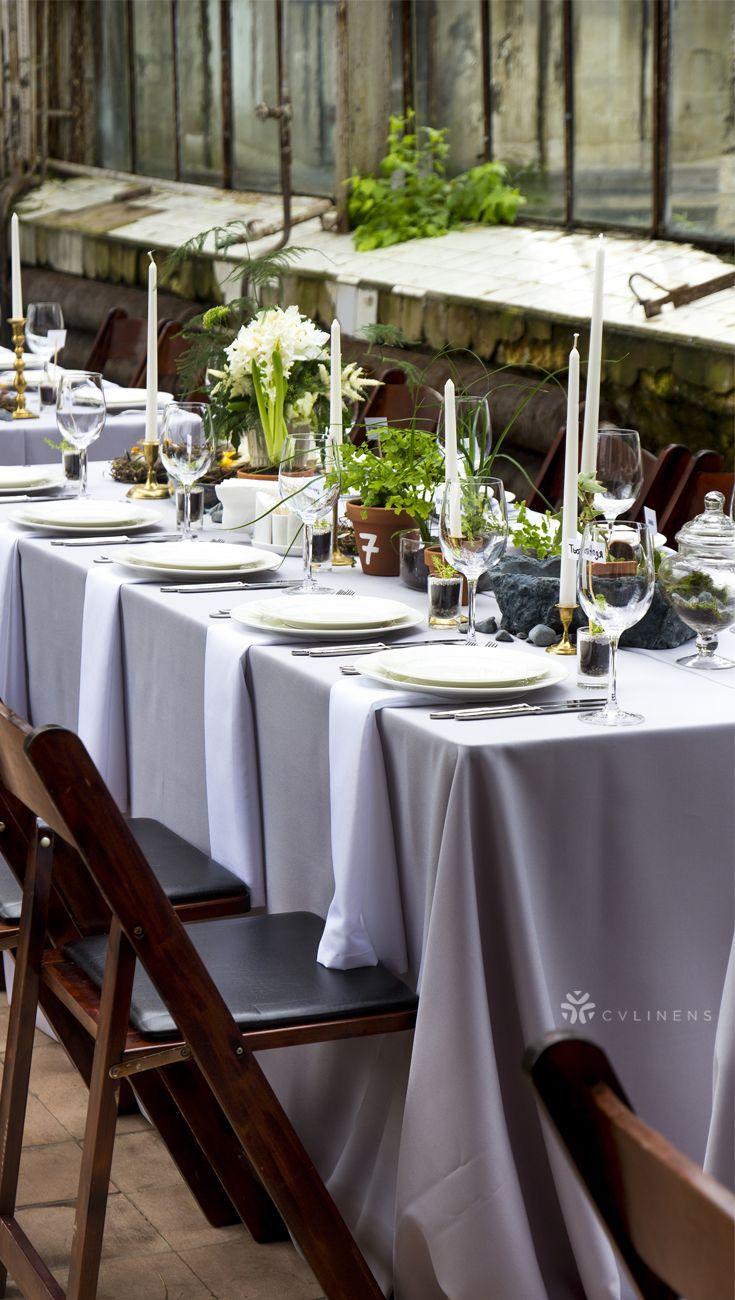 Lamour Satin 90 X156 Rectangular Oblong Tablecloth Gray Silver