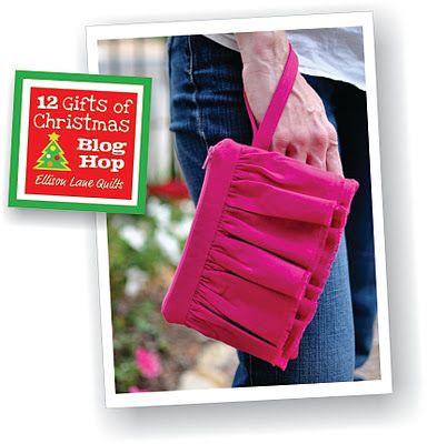 Ruffled Wristlet Tutorial - Texas Freckles - (12 days of Christmas blog hop '11)