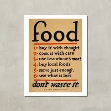 food waste poster retro - Google Search
