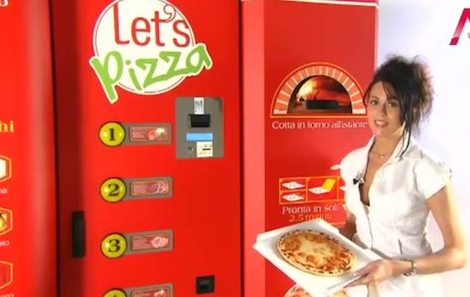 Pizza Vending Machine is En Route to the USA - foodista.com—— Fresh-made pizza from a vending machine.
