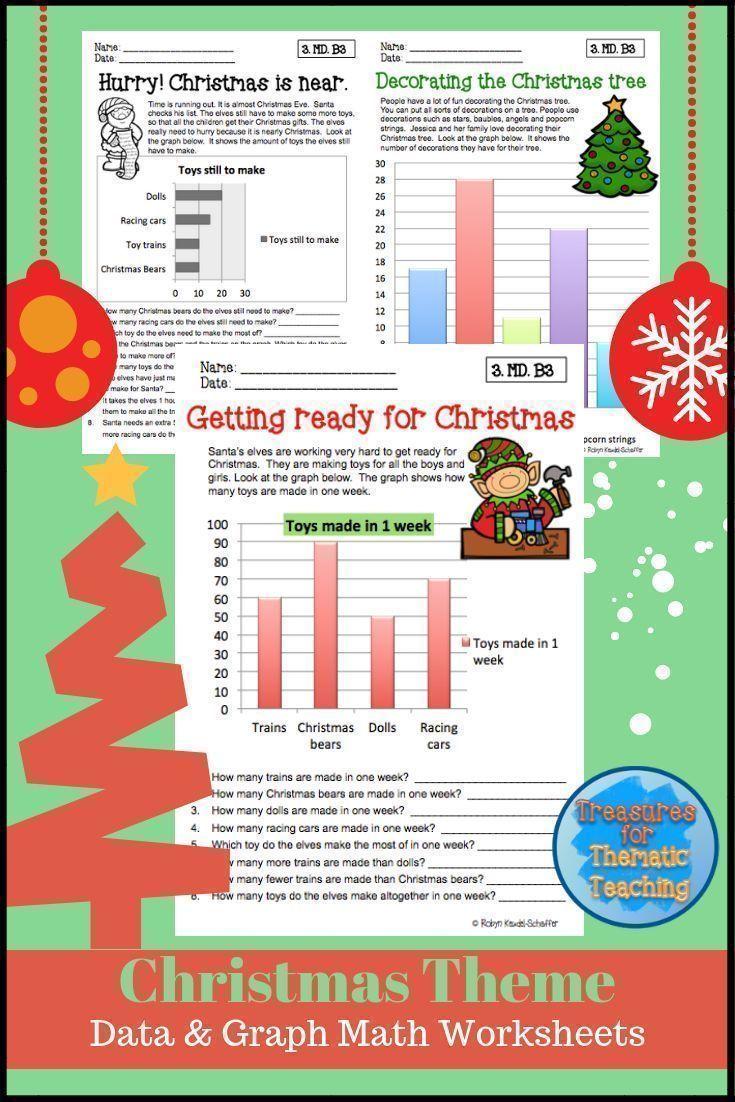 Christmas Graphing Worksheets Holiday Worksheets Christmas Math Reading Graphs