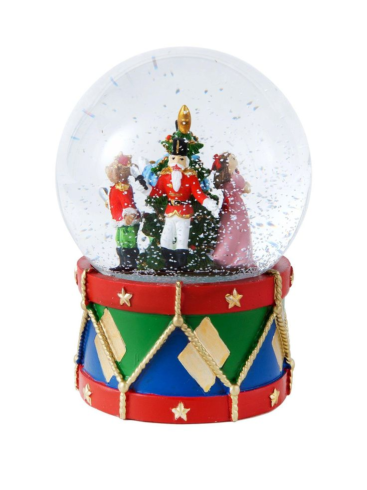 Gisela Graham Nutcracker Light Up Glass Music Dome | very.co.uk
