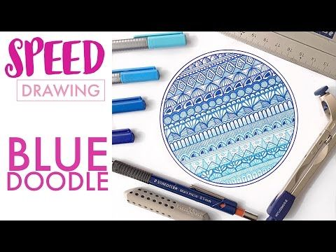 SPEED DRAWING: Blue doodle - YouTube