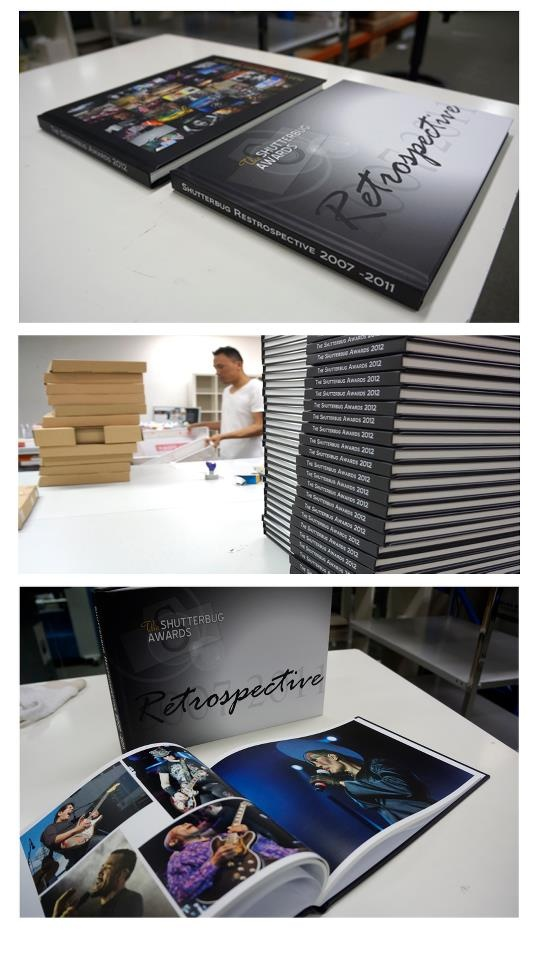 Nima preparing the Shutterbug Awards 2012 and Retrospective books for despatch.