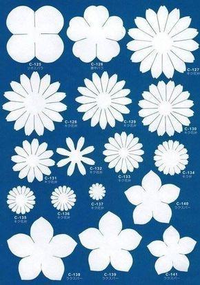 Imprima moldes para fazer flores em foami. Post relacionado 8 padrões para fazer v ...