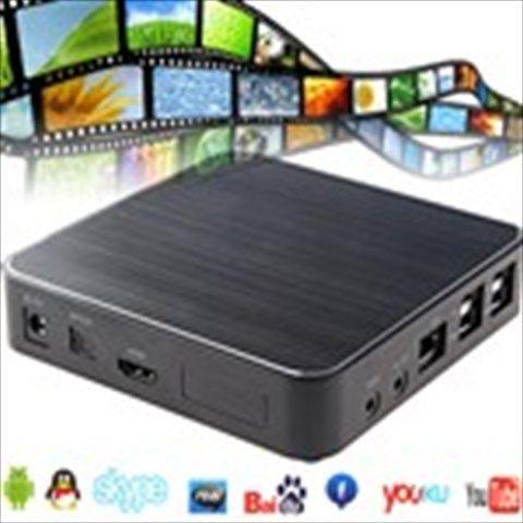 Full HD 1080P Android 2.3 Internet WiFi Bluetooth TV Box Media Player with SD/4xUSB /HDMI /YPbPr /AV out/RJ45