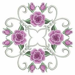 Pearl Roses Quilt 8, 1 - 3 Sizes!   What's New   Machine Embroidery Designs   SWAKembroidery.com Ace Points Embroidery
