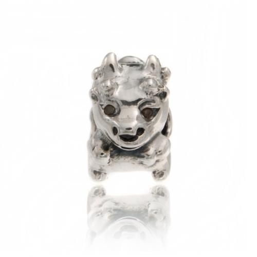 Bling Jewelry 925 Sterling Bull Cow Animal Bead Charm Pandora Compatible