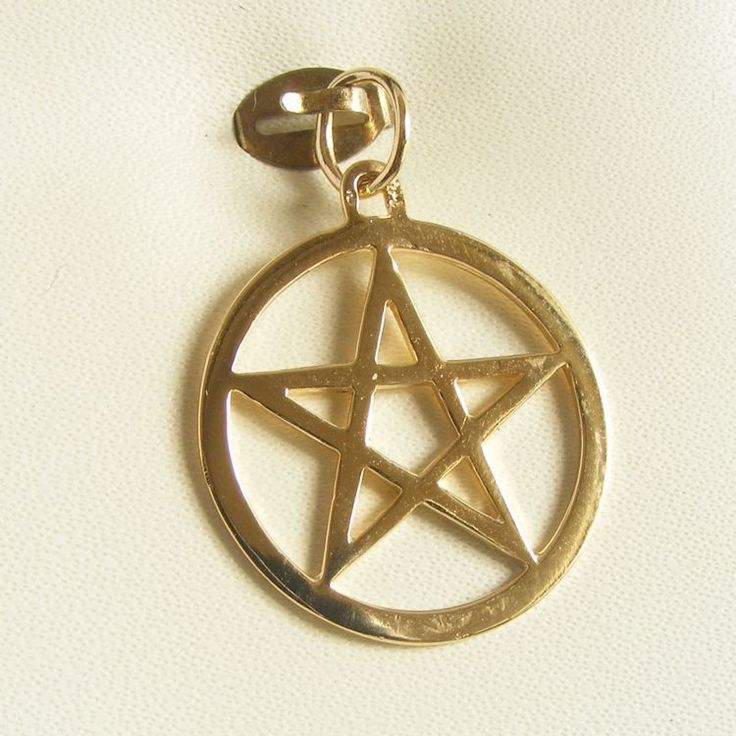 Pentagram in Circle Charm - chr-2045